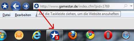 IE 9 Website Taskbar Pinning
