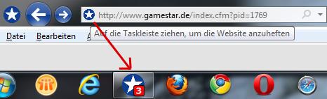 IE 9 Website Taskbar Pinning